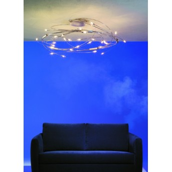 Escale SPIN ceiling light gold, 30-light sources