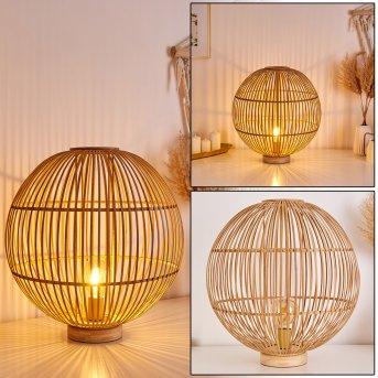 LARES Table lamp light brown, 1-light source