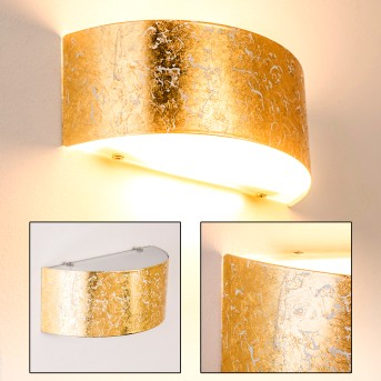 Lesina M Wall Light gold, 2-light sources