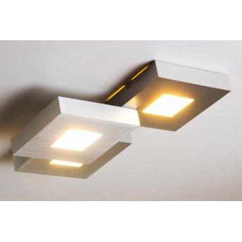 Bopp CUBUS ceiling light LED aluminium, 3-light sources
