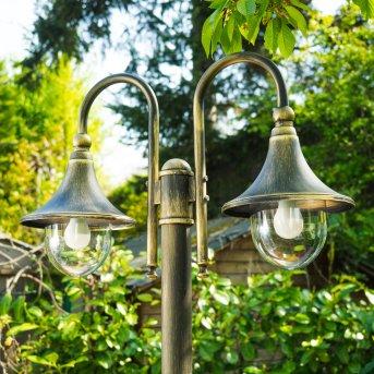 Elgin lamppost black-gold, 2-light sources
