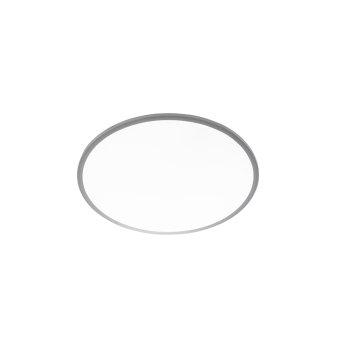 WOFI LINOX Ceiling Light LED silver, 1-light source, Remote control, Colour changer