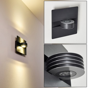 Outdoor Wall Light Haslen LED anthracite, 1-light source