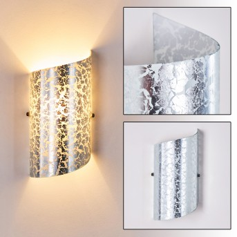 PORDENONE Wall Light silver, 1-light source