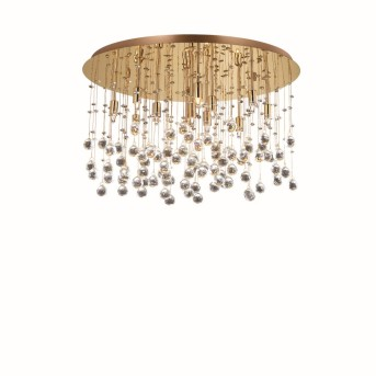 Ideal Lux MOONLIGHT Ceiling Light Crystal optics, champagne, 12-light sources