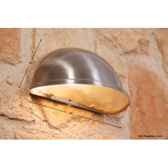 Konstsmide TORINO wall light grey, 1-light source