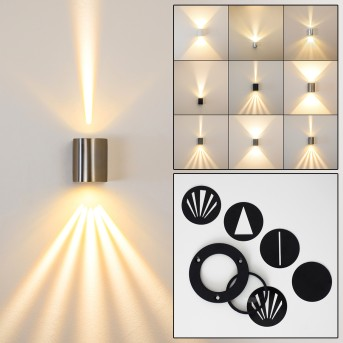 Mora Outdoor Wall Light LED stainless steel, 2-light sources