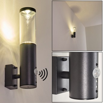 Noreaz Outdoor Wall Light LED anthracite, 1-light source, Motion sensor