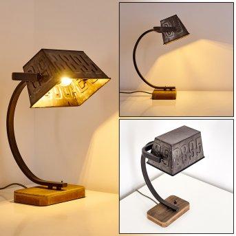 ANVIK Table Lamp grey, rust-coloured, brown, 1-light source