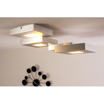 Bopp CUBUS ceiling light LED aluminium, 4-light sources