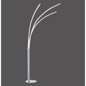 Leuchten-Direkt MAJA Floor Lamp LED chrome, 3-light sources