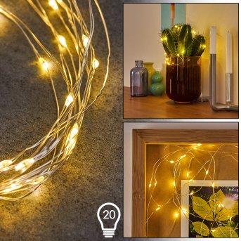 SONDRIO rope lights LED, 20-light sources