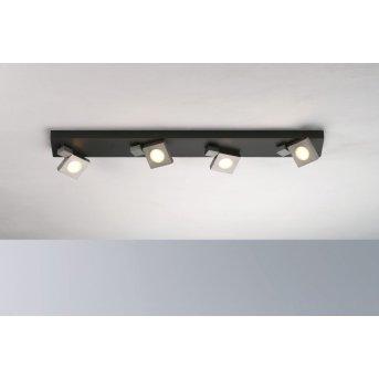 Bopp Flash Ceiling Light LED black, anthracite, 4-light sources
