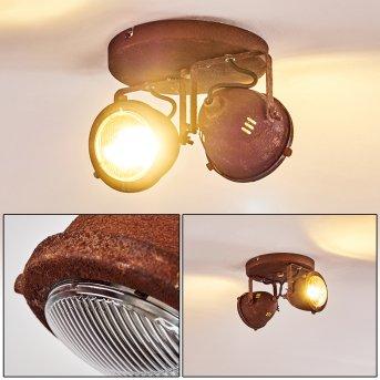 Ceiling Light Glostrup LED rust-coloured, 2-light sources