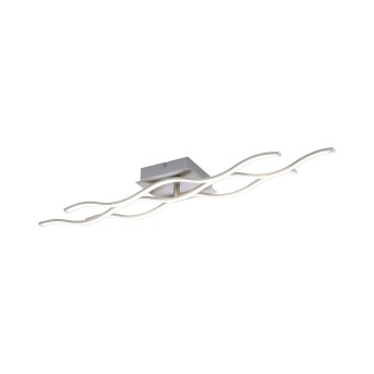 Leuchten Direkt LS-WAVE Ceiling Light LED stainless steel, 2-light sources, Remote control, Colour changer