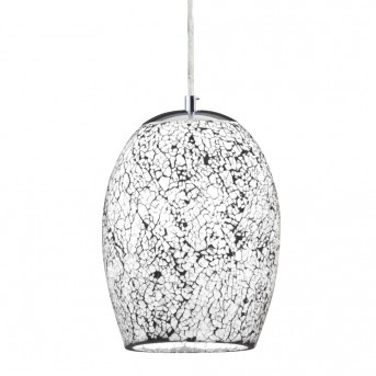 Pendant Light Searchlight CRACKLE silver, 1-light source