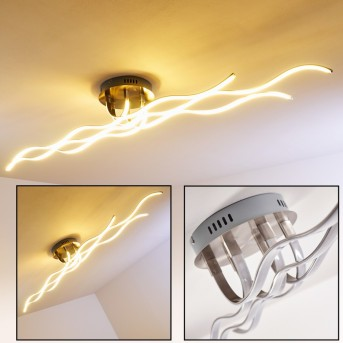 Bovino ceiling light LED matt nickel, 1-light source