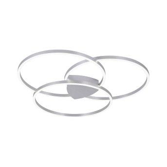 Paul Neuhaus Q-KATE Ceiling Light LED silver, 3-light sources, Remote control