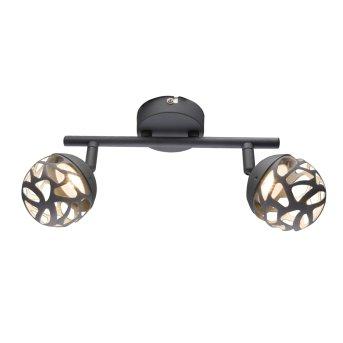 Globo OHIO ceiling spotlight LED grey, 2-light sources