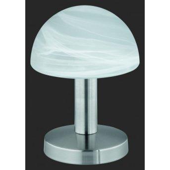 Trio 5990 table lamp matt nickel, 1-light source