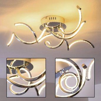 Moskau ceiling light LED chrome, 3-light sources
