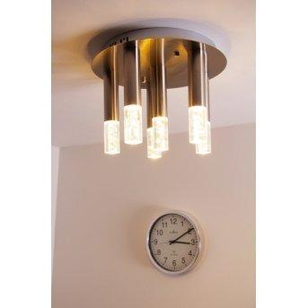 Honsel Bubble ceiling light matt nickel, 6-light sources