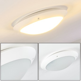 Grafton outdoor ceiling light white, 2-light sources