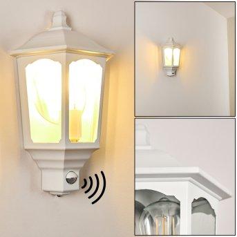 Brissago Outdoor Wall Light white, 1-light source, Motion sensor
