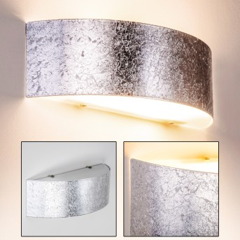 Lesina L Wall Light silver, 2-light sources