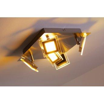 Wofi Cholet ceiling light LED matt nickel, 5-light sources