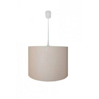 Waldi Vichy pendant light white, 1-light source