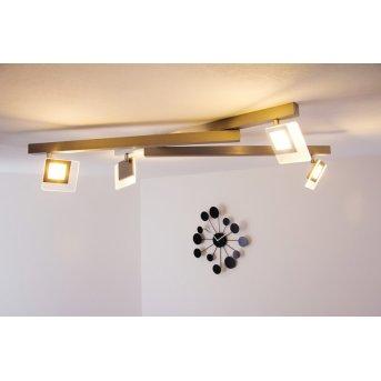 Bopp LINE ceiling light LED aluminium, 4-light sources