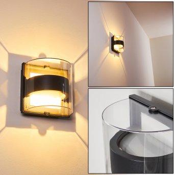 SAUERBEK Outdoor Wall Light LED black, 2-light sources