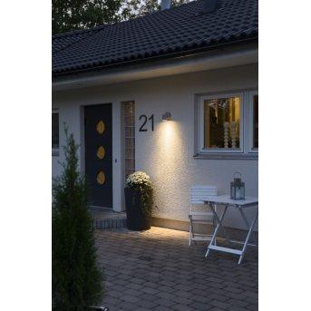 Konstsmide MODENA wall light grey, 1-light source