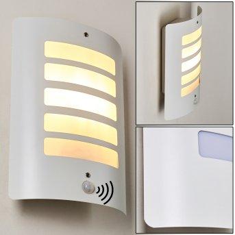 Outdoor Wall Light Alslev white, 1-light source, Motion sensor