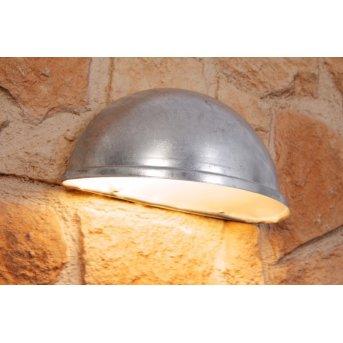 Konstsmide TORINO wall light grey, silver, 1-light source
