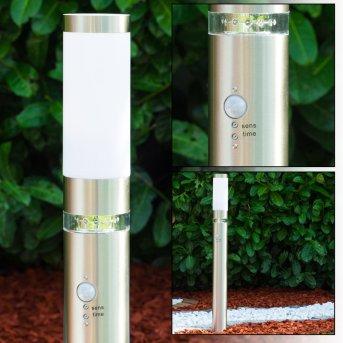 Avize outdoor floor lamp stainless steel, 1-light source, Motion sensor