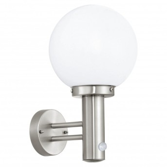 Eglo NISIA Wall Light stainless steel, 1-light source, Motion sensor