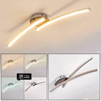 Tusula Ceiling Light LED matt nickel, 2-light sources