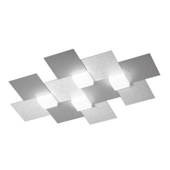 Grossmann CREO Ceiling light LED aluminium, 4-light sources