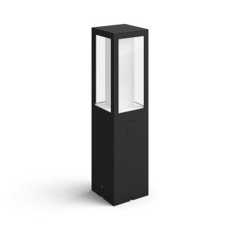 Philips HUE AMBIANCE WHITE & COLOR IMPRESS Pedestal light, extension set LED black, 1-light source, Colour changer