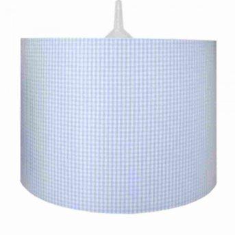 Waldi Vichy pendant light blue, 1-light source