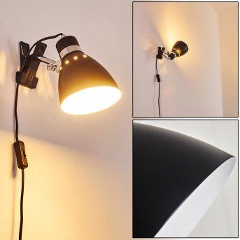 Stranderott Clamp-on Light chrome, black, 1-light source