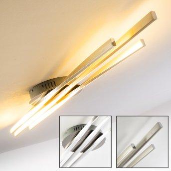BIBIONE Ceiling Light LED brushed steel, 1-light source