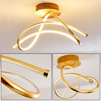 WENGI Ceiling light LED gold, 1-light source