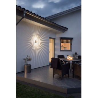 Konstsmide MONZA wall light LED bronze, 1-light source