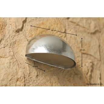 Nordlux Scorpius wall light stainless steel, galvanized, 1-light source