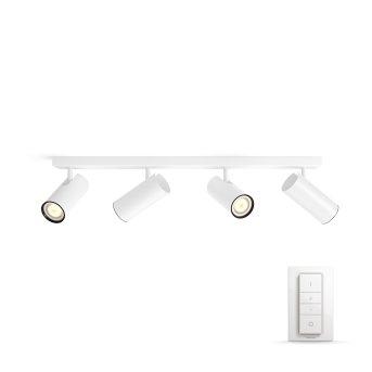 Philips HUE AMBIANCE WHITE BURATO Spotlight base set white, 4-light sources, Remote control