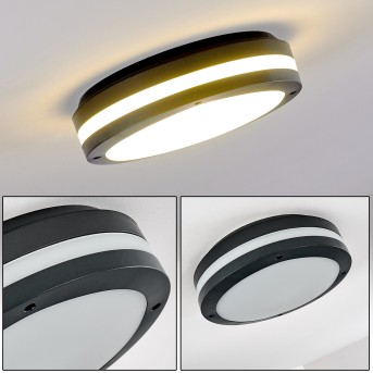 Wollongong outdoor ceiling light LED anthracite, 1-light source