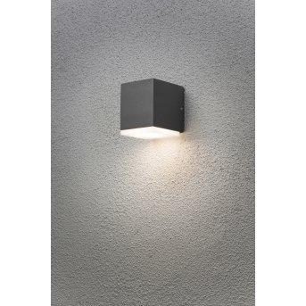 Konstsmide MONZA wall light LED anthracite, 1-light source